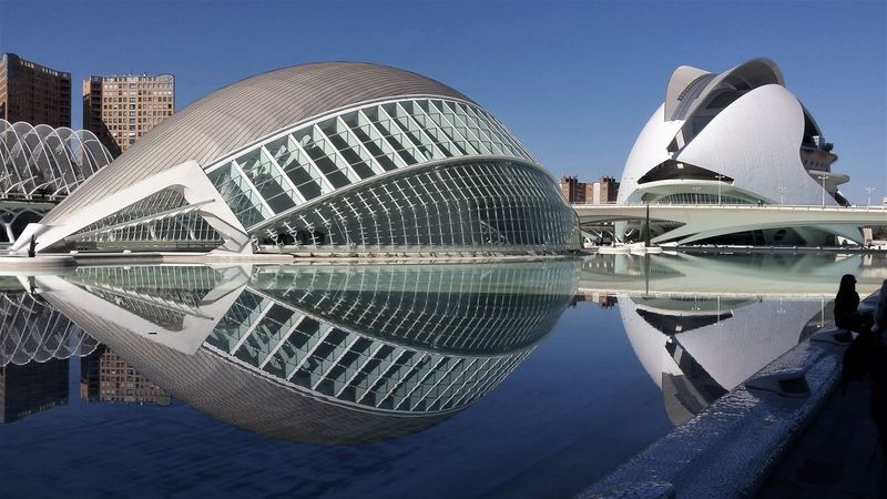 Architecture Building Exterior Built Structure City Clear Sky Day Futuristic Modern No People Outdoors Reflection Sky Skyscraper Travel Destinations Water