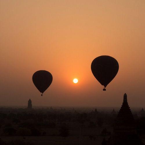 The Amazing Bagan Burma Amazing HotBallon Dawn Temples Photooftheday