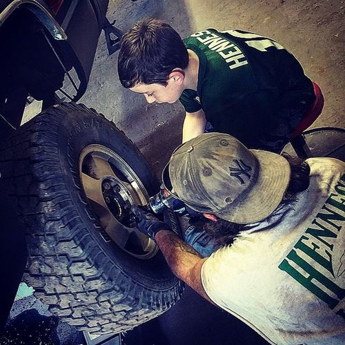 Wrenching Fatherandson Aboyandhisdad Wrenching Aircompressor Chevy Dadschevy Silverado Greasemonkey Changingatire Tools Garage Learning Teaching Dirty Amanandhistoys Mentoys Fixing