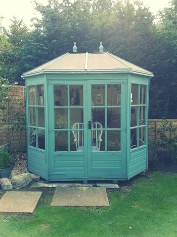 Refurbished Blue Garden Shed