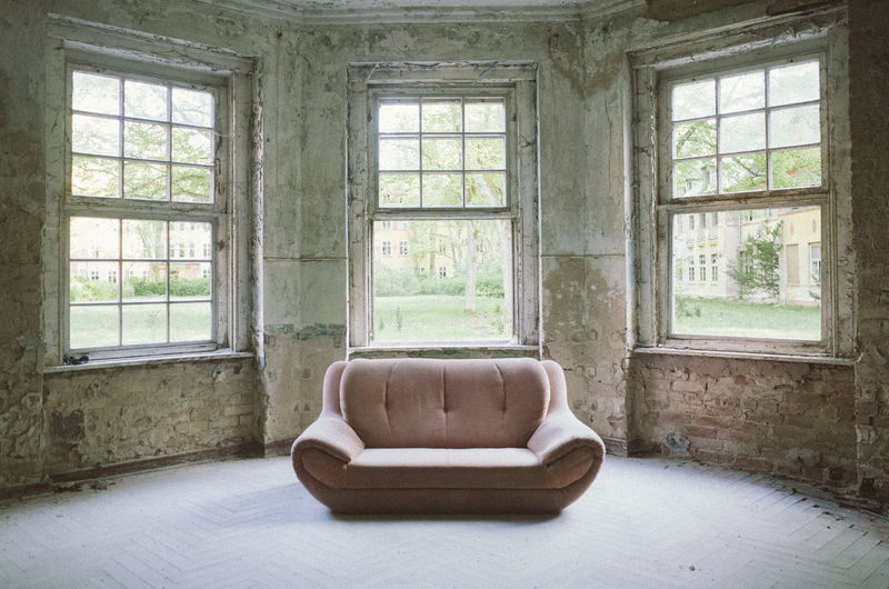 Sofa on floor at home
