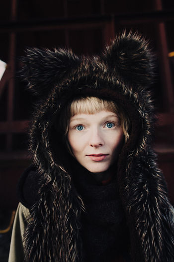 Portrait Of Young Woman In Animal Costume
