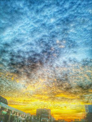 일상 Daliy Snap Gpro2 HDR Sunset #sun #clouds #skylovers #sky #nature #beautifulinnature #naturalbeauty Photography Landscape [ Sky 퇴근길 지프로2