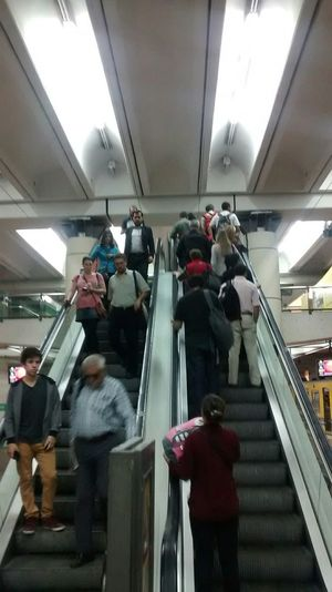 go upstair & outside facing my destiny. Underground Landscape On The Move Subway