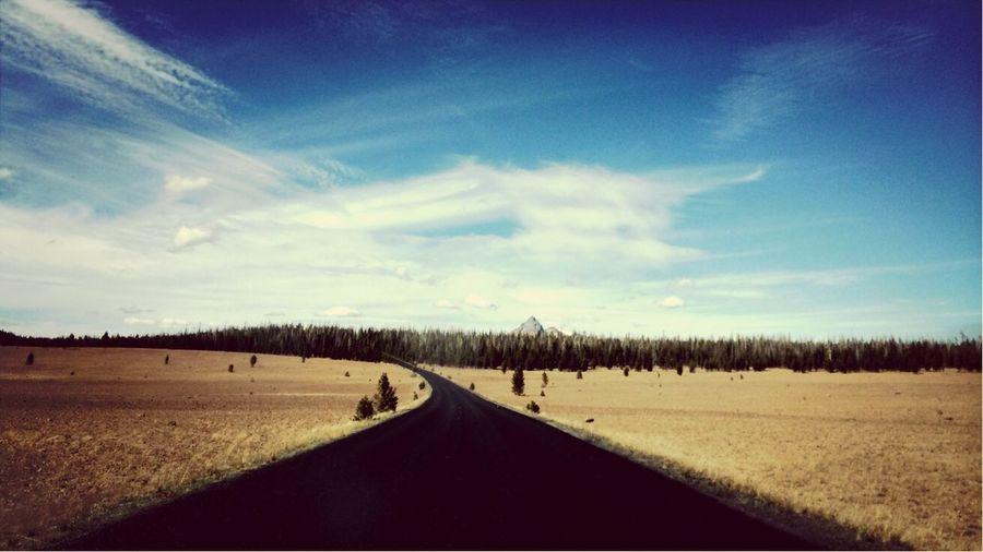 Driving through the Pumice Desert below Crater Lake in Oregon