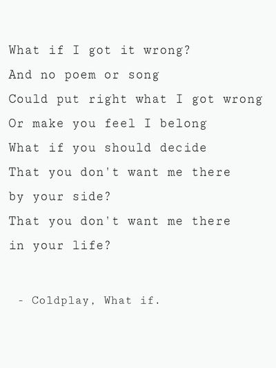 I love this song! 😍🎶🌟 Coldplay Song What If Great Song Music Love