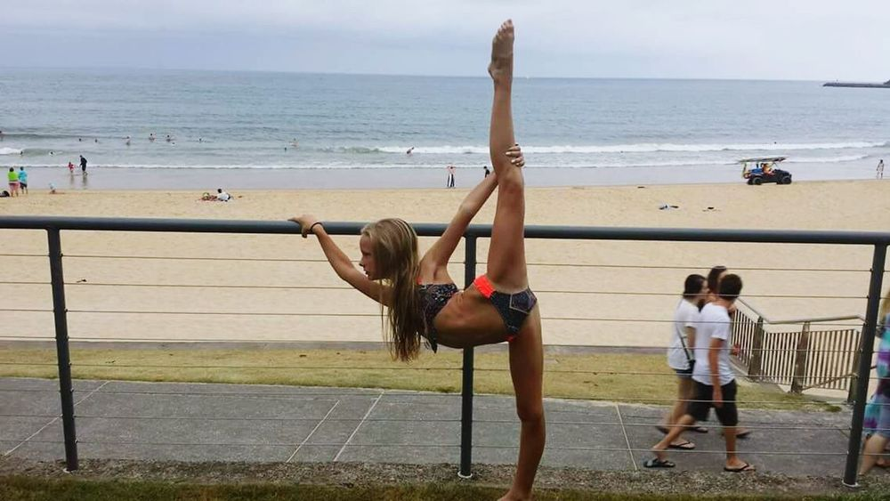 Active girl teenager dancer beach ocean sand travel bikini Relaxing Check This Out Hanging Out Everyday Joy Taking Photos Young Wild And Free(; Beautiful Girls  Kids Being Kids Hi!