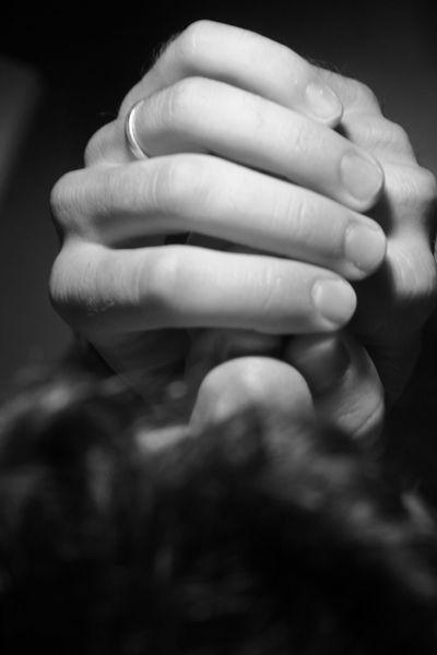 Blackandwhite Close-up Fingers Hands Human Skin Intimacy Prayer Ring Silence
