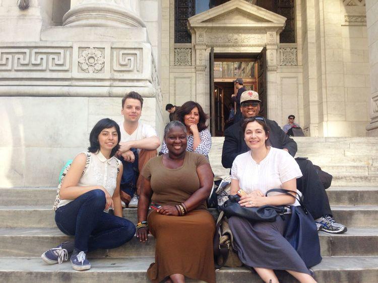 Having fun at the Public Eye NYPL Friends