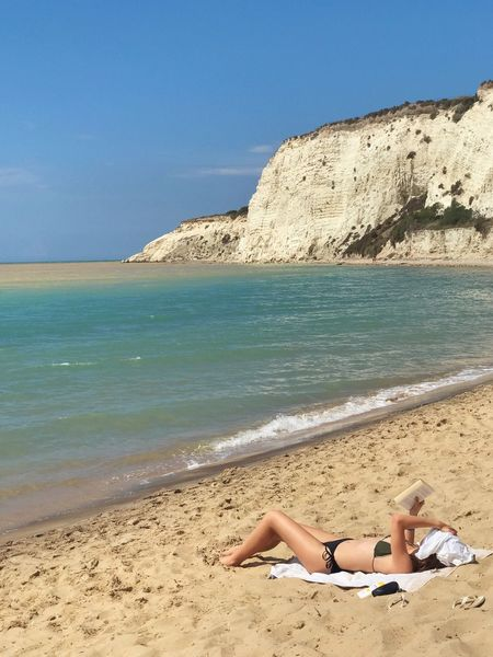 Costa Sud - Sicilia Sicilia Sicily Nature_collection Gianni Lo Turco Nature Beach Sea Water Land Sky Sand Tranquil Scene Leisure Activity Beauty In Nature Tranquility Relaxation One Person Nature Sunlight Scenics - Nature Lifestyles Horizon Human Leg Real People Horizon Over Water