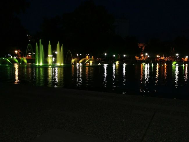 The Singing Fountains Relaxing Green Color Yellow Night Lights Night City Fresh On Eyeem  Water Outdoors Colorsplash Colorful Plovdiv2019 Showcase June Overnight Success
