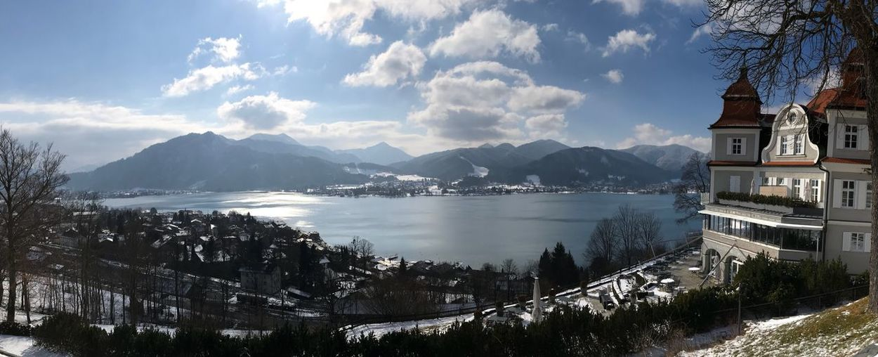 Tegernsee Wintertime No People Landscape Lake Lake View Schloss Mountain Architecture Mountain Range Sky Nature Winter Tree Scenics No People Snow Tranquility Cold Temperature Outdoors Water