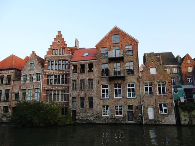 Architecture House Building Exterior No People Sky Outdoors Ghent,Belgium Ghent Canal Ghent Belgium Flamand Architecture Urban Skyline Cityscape Vacations Travel Destinations Clear Sky Water Day Cityscape Politics And Government