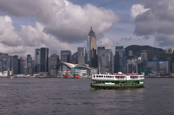 Star Ferry DSLR Ferry Harbor Hong Kong Hong Kong Harbour Public Transportation Architecture Built Structure City Cityscape Clouds And Sky Nautical Vessel Pentax Pentax K-3 Sea Ships Skyscraper Star Ferry Waterfront Been There.