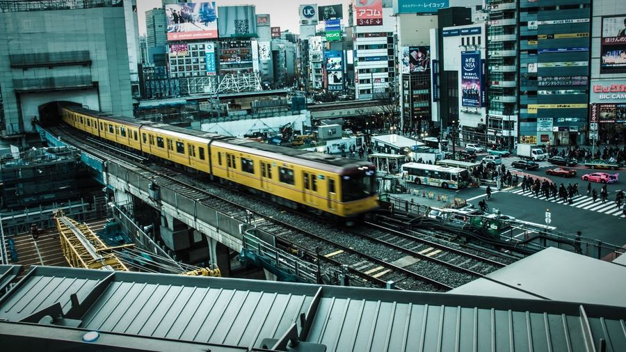 Shibuyascapes Shibuya Drastic Edit City Under Pressure Ultimate Japan Cityscapes Train From The Rooftop Building Urban Lifestyle Highlights From Aerial Shot Japan Lovers Feel The Journey Urban Exploration Transportation Tokyo Envision The Future The Innovator Seeing The Sights Cityscape GetYourGuide Cityscapes The Best From Holiday POV Human Meets Technology People Mobility In Mega Cities