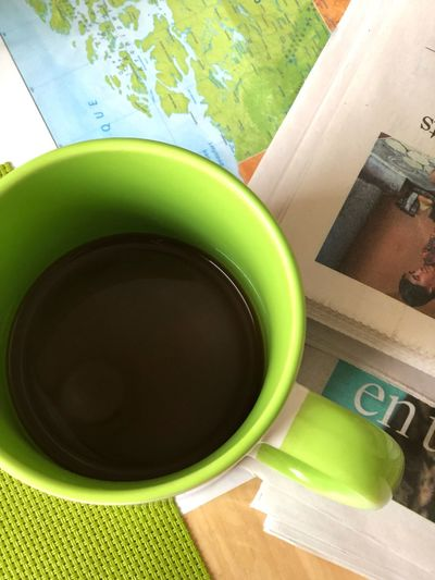 Coffee And Newspaper Have A Cup Pause World News Morning News Newspaper Morning Coffee Still Life Table Indoors  No People Drink Refreshment Close-up Freshness Day