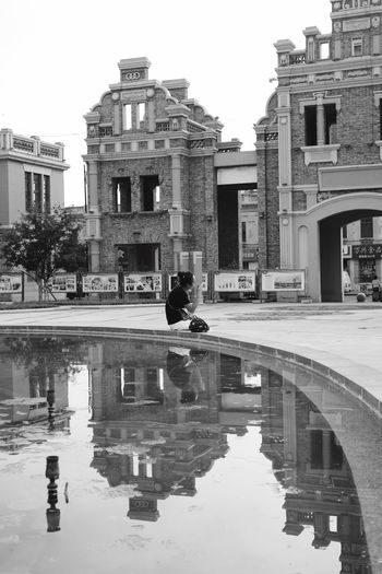 haerbin Streetphotography Taking Photos Leicacamera Haerbin Mirror Picture Mirror Reflection Architecture Old Buildings Old Town