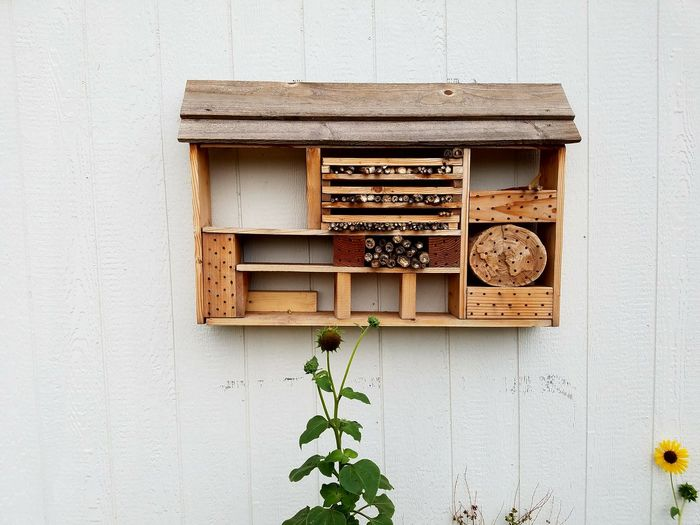 Wooden Bee House On Wall