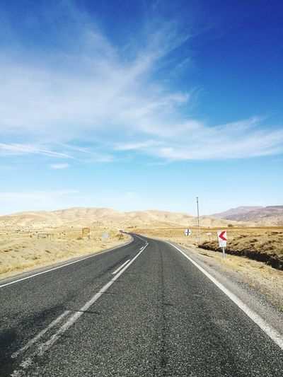 road Desert Sand Dune Road Sand Tire Track Direction Sky Landscape Cloud - Sky Car Point Of View Highway Mountain Road Multiple Lane Highway Empty Road Dividing Line Off-road Vehicle Two Lane Highway Elevated Road Arid Landscape