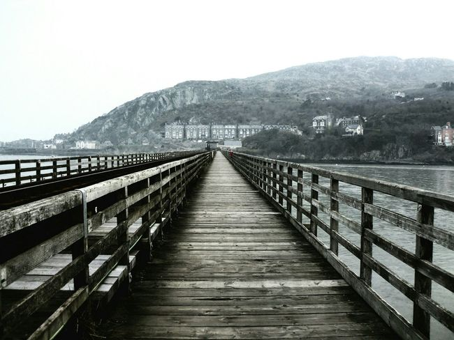 Bridge Railway Track Barmouth Man-made Structure Misty Morning