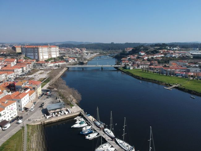 Marina de Vila do Conde - Vila do Conde, Portugal DJI X Eyeem Architecture Bridge - Man Made Structure Building Exterior Built Structure City Cityscape Day Dji Spark High Angle View Nature Nautical Vessel No People Outdoors Residential Building Residential District Sea Sky Sunny Town Travel Destinations Tree Vila Do Conde Water