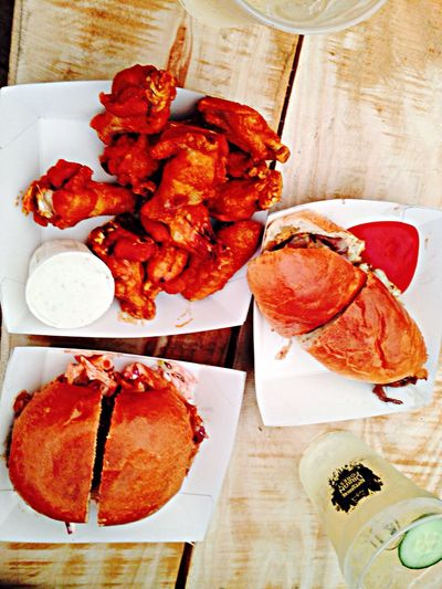 BBQ Pulled Pork Cheese Steak Spicy Buffalo Wings Saturday Brunch