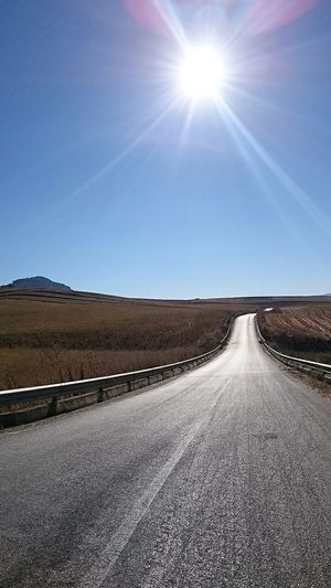 Desert roads. Sicily Sicily, Italy Place Of Heart Clear Sky Sunlight Outdoors South Italy Day Sky Low Angle View Gallitello