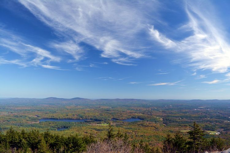 Mt. Monadnock, New Hampshire Sky Cloud - Sky Scenics - Nature Beauty In Nature Tranquil Scene Environment Landscape Plant Tranquility Tree Mountain Outdoors Idyllic Blue Non-urban Scene Summit View Valley Mountain Range Mountain Top Horizon