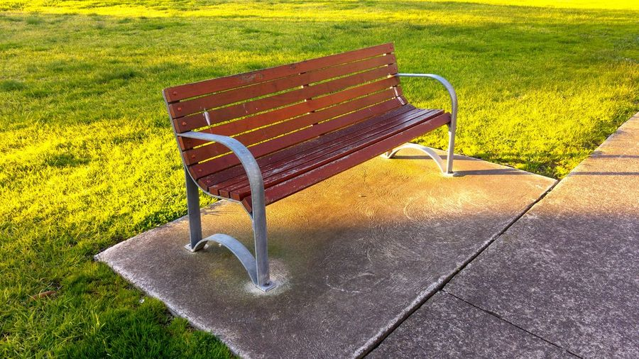 Empty Chairs In Park