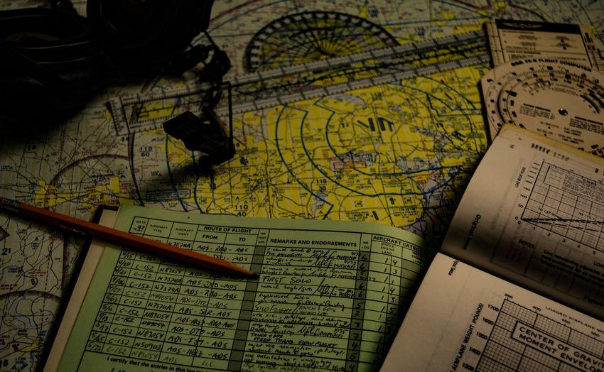 Digging through my old flight bag... Aeronautics Aviation Flight Plan Flight Planning Flying Logbook Map Pilot Pilotlife Planning Preparation