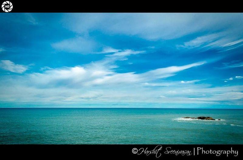 Open sea...!!!! Cape Comerin tamilnadu ocean bluesky