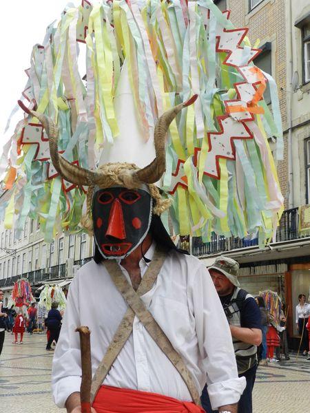 Portugal Festival Masks Street Party Lisbon Lisbona Traditional Costume Parade Culture Tradition