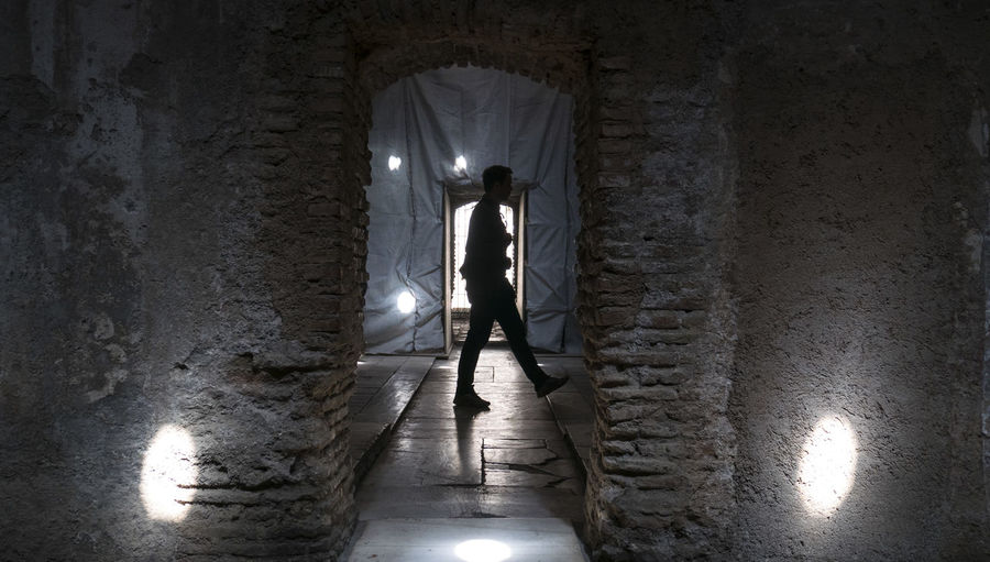 Adult Adults Only Architecture Cellar Day Full Length Granada Indoors  Manual Worker Men One Man Only One Person Only Men People Shadow Shadows & Lights Shiluette SPAIN Standing Tunnel