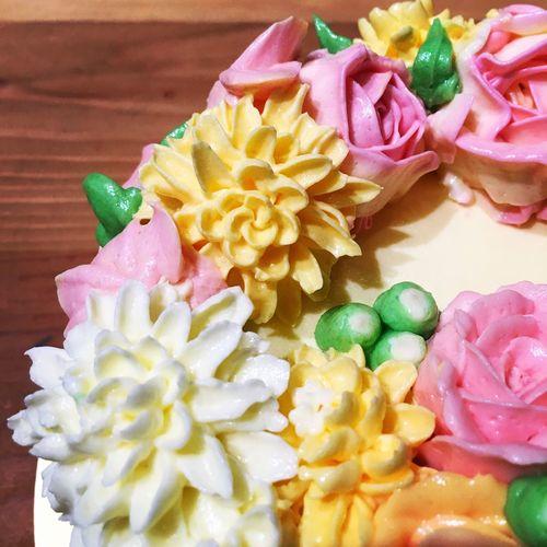 Buttercream Buttercream Rose Decoration Cake Food Art 裱花 DIY Joely Njsays