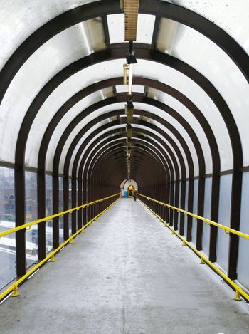 Overhead Walkway Architectural Feature Diminishing Point Tunnel View