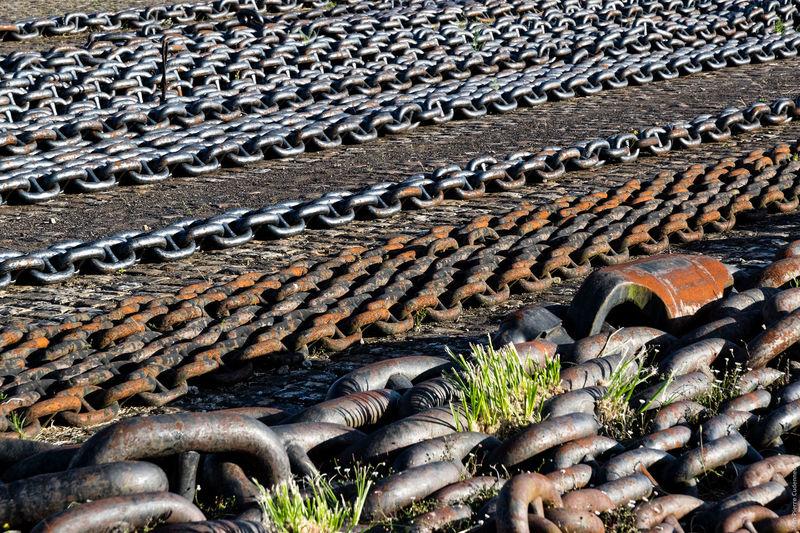 Parc à chaînes Abundance Brest 2016 Brest2016 Chain Chains Day Fêtes Maritimes Harbour Harbour View No People Outdoors