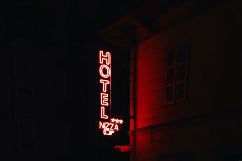 Night Light Fujifilm_xseries Fujifilm FujiX100T Illuminated Night Text Neon Communication Low Angle View Red Architecture Outdoors Building Exterior No People Built Structure