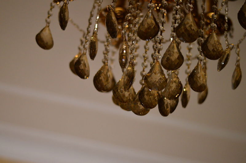 Low angle view of decoration hanging from ceiling