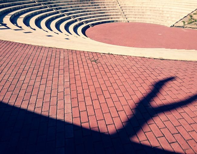 Empty steps on sunny day