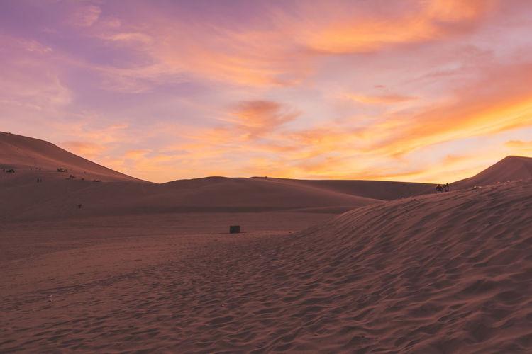 Copy Space Desert Dunes Dusk Epic Golden Hour Huacachina Huacachina, Peru Orange Pipeline Public Transportation Red Sand Sky Sunset Sunset_collection The Great Outdoors - 2016 EyeEm Awards