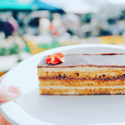 Beautiful Opéra Cake by my dear friends @ L'amour En Cage (French Patisserie in Kapiti, NZ) 😘 Foodie Patisserie Cake Yummy Enjoying Life Kiwi Life French In NZ