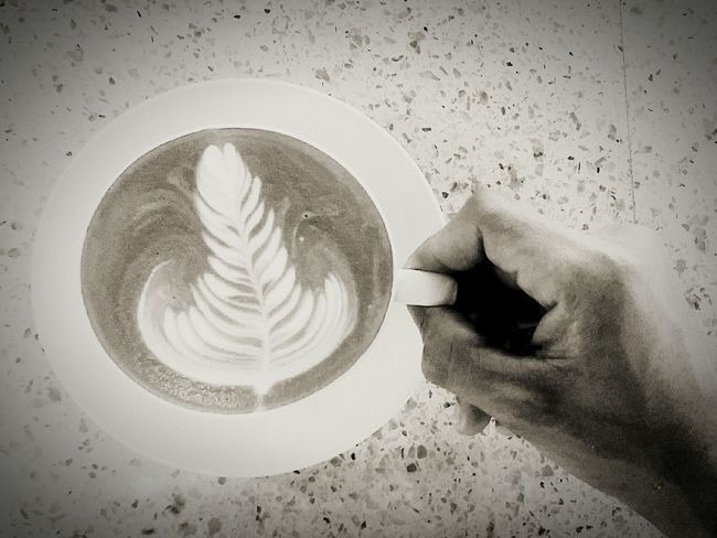Bigger is better Coffee - Drink Drink Food And Drink Cafe Cappuccino Latte Froth Art Frothy Drink Day Indoors