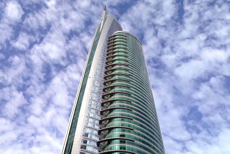 Almas Architecture Building Building Exterior Built Structure Capital Cities  City Cloud Cloud - Sky Cloudy Day Dubai Glass - Material JLT Jumeirah Lakes Towers Low Angle View Modern Office Building Sky Skyscraper Tall Tall - High Tower Travel Destinations UAE