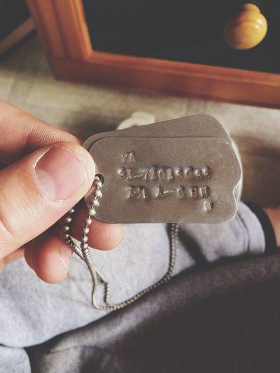태국에 계신 형님의 군번줄 93년 군번이라니ㄷㄷ Soldier Dogtags My Brother  Live In Thailand