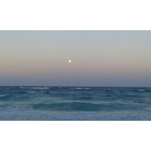 Full moon ● Mexico Traveling Beach Nature Amazing View Ocean Hello World