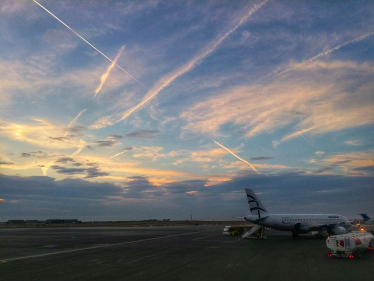 Sunset Cloud - Sky No People Outdoors Airport Skg Aegean Airlines Aviation Dawn Colors