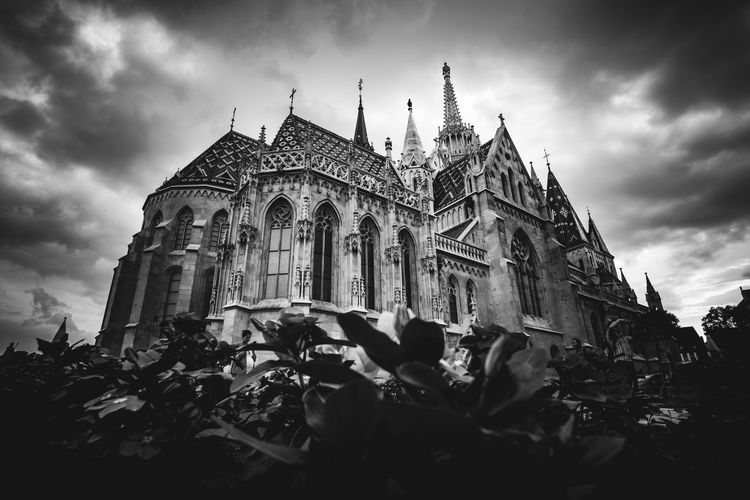 Matthias Church - B&W Architecture Black & White Church Dramatic Sky Gothic Historical Building Matthias Church Architecture Black And White Blackandwhite Building Exterior Buildings City Gothic Style Low Angle View Religion Sky Tourism Travel Destinations