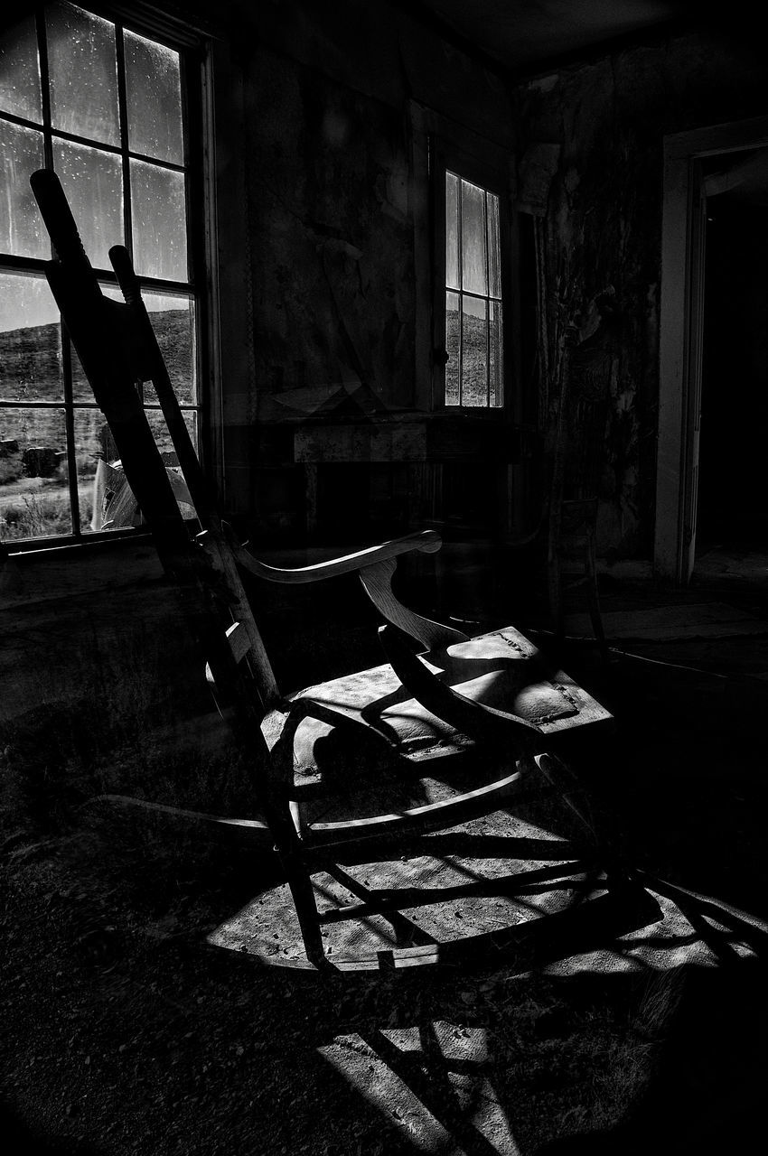 abandoned, empty, absence, indoors, chair, no people, day