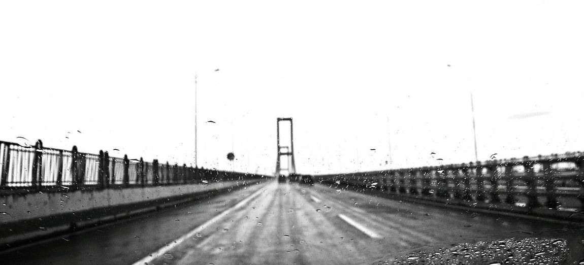 Roadtrip. Weather Road Winter No People Roadtrip Discovertheroad Throwback Blackandwhite Monochrome Perspective Stayandwander Outdoors Bridge
