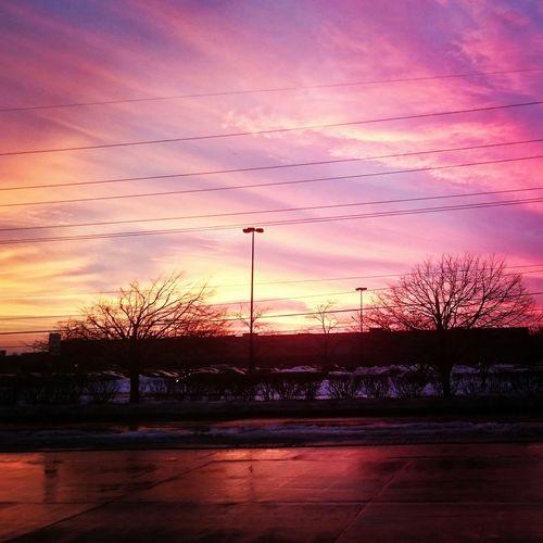 DesPlains Chicago Illinois Sunset Blushing Sky